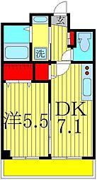 アリエッタコート 3階1DKの間取り