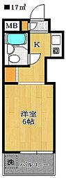 ロザール鎌ヶ谷[1階]の間取り
