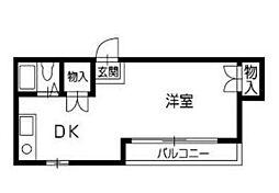 タニワキビル[402号室]の間取り