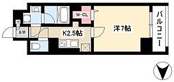 仮)道下町プロジェクト 6階1Kの間取り