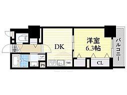 フレール江坂レジデンシャル[10階]の間取り