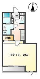 JR東海道本線 大垣駅 バス14分 三津屋北方下車 徒歩3分の賃貸アパート 2階1Kの間取り