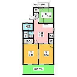 セレクト21C・D[1階]の間取り