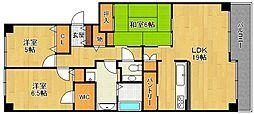ラ・ビスタ宝塚ノースハイツ1番館[320号室]の間取り