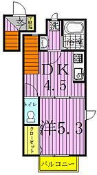 ルミナスガーデン[2階]の間取り