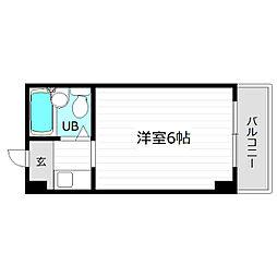 レアレア都島15番館[3階]の間取り