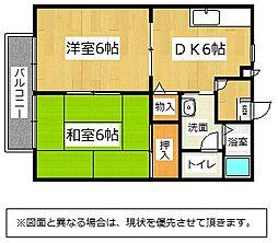 福岡県北九州市小倉南区中曽根東2丁目の賃貸アパートの間取り