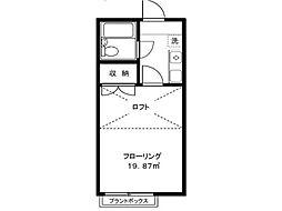 クリスタルハイツ羽衣町[2階]の間取り
