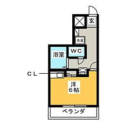 シティマンション大橋南 NO.10[4階]の間取り