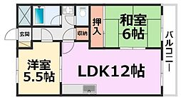 橋本第3マンション[105号室号室]の間取り