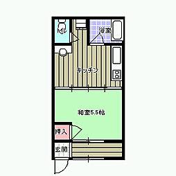 第2水野アパート[2号室]の間取り