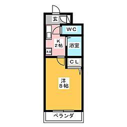 エスポワール神成[1階]の間取り