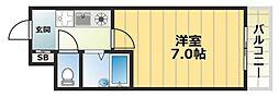 パークレーン深江[1階]の間取り