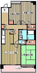 コーポレート小金井梶野町通り2号棟[402号室]の間取り