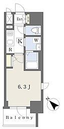 エスリードザ・ランドマーク神戸 3階1Kの間取り