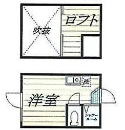 東京都中野区鷺宮2丁目の賃貸アパートの間取り