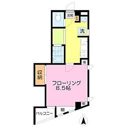 リトルマンション[302号室]の間取り