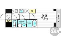 プランドール新大阪PARKレジデンス 2階1Kの間取り