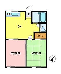 クレセント原宿A棟[1階]の間取り