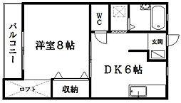 サンコート三方原Ⅰ[202号室]の間取り