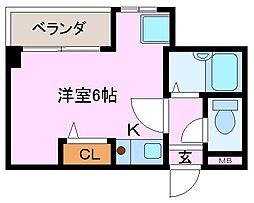 コンフォート大和屋[2階]の間取り