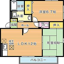 パークサイド本城[1階]の間取り