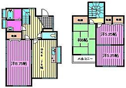 [一戸建] 埼玉県さいたま市大宮区上小町 の賃貸【/】の間取り