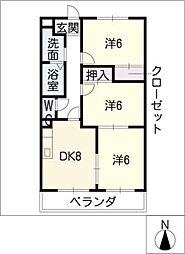 コートリリーベル[2階]の間取り