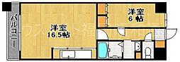 グランパーク天神[12階]の間取り