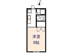ハイツサザンクロスII[1階]の間取り