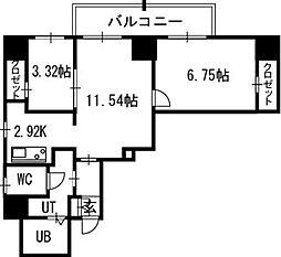 レガ−ロ札幌ステ−ション[13階]の間取り