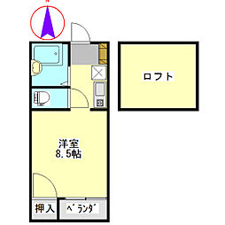 SKYROCKET Ⅱ[230号室]の間取り