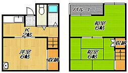 [テラスハウス] 大阪府門真市岸和田3丁目 の賃貸【大阪府 / 門真市】の間取り