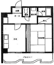 香川県高松市丸の内の賃貸マンションの間取り