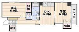 菱和パレス門田屋敷[2階]の間取り