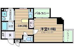 プレサンスセンターコア大阪[3階]の間取り