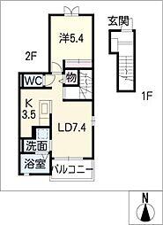スカイレジデンスIII[2階]の間取り