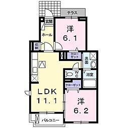 カルムIII中央B[0102号室]の間取り