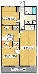 レジデンス武蔵南[2階]の間取り