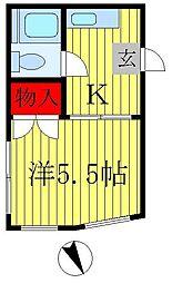 田崎コーポ[1階]の間取り