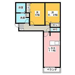 B88[2階]の間取り