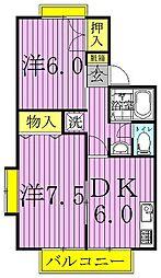 セジュールYKII[105号室]の間取り