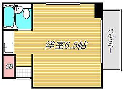 TOP成城学園[6階]の間取り