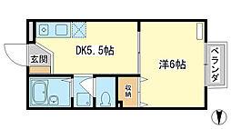 ロイヤルハイツII[2階]の間取り