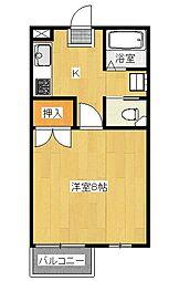 元今泉高橋コーポ第5[1階]の間取り