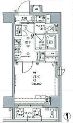 東京メトロ有楽町線 江戸川橋駅 徒歩4分の賃貸マンション 2階1Kの間取り