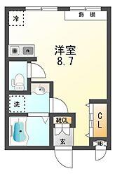 新栄プロパティー沢田[2階]の間取り