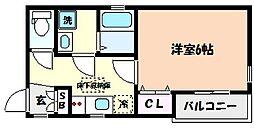 兵庫県神戸市東灘区住吉宮町1丁目の賃貸アパートの間取り