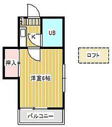ジュネパレス新松戸第38[101号室]の間取り