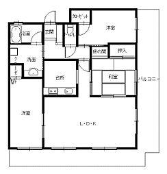 長崎県長崎市赤迫1丁目の賃貸マンションの間取り